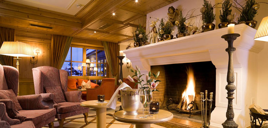 Hotel Tirolerhof, Zell am See, Austria - lounge with fireplace.jpg